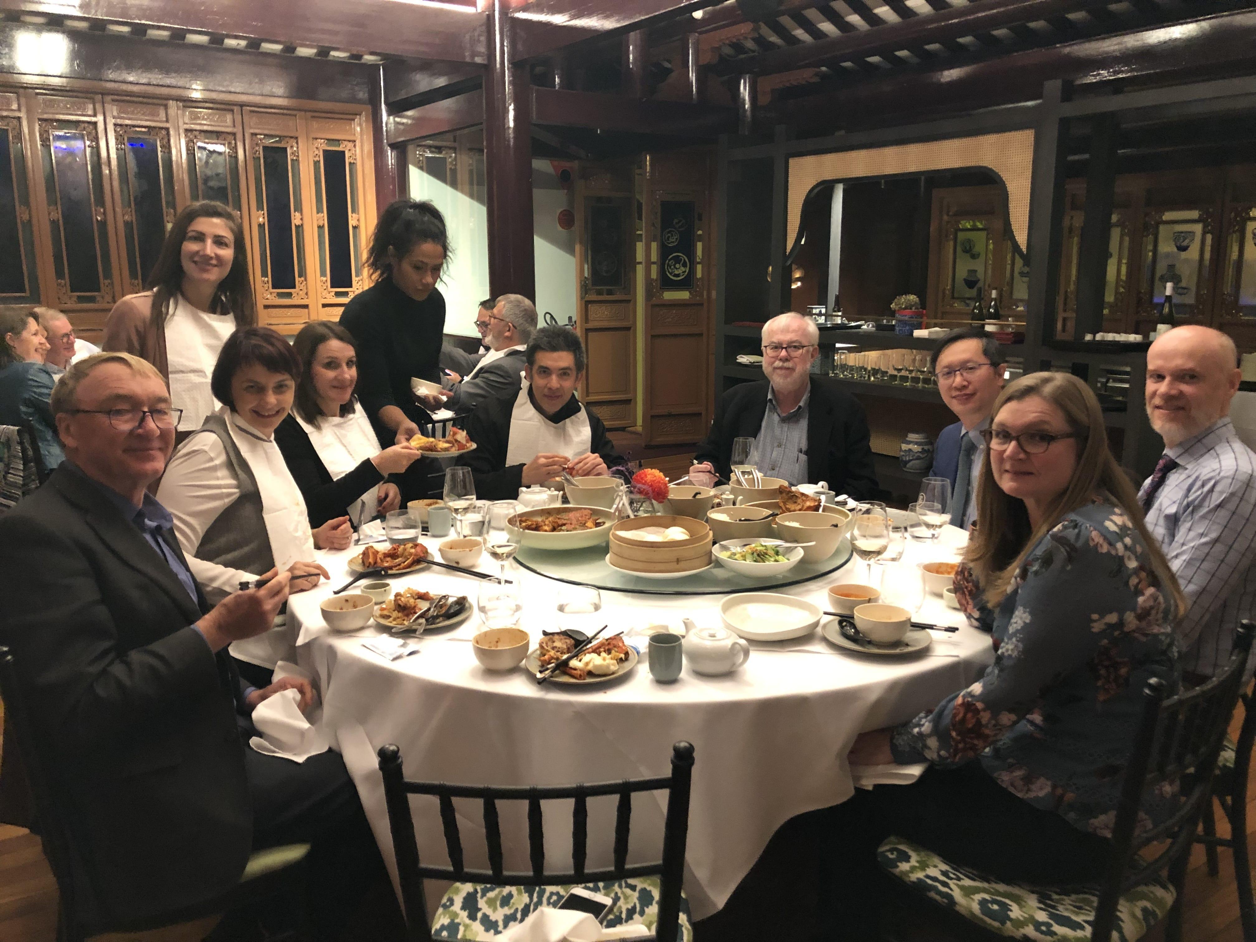 Pre-meeting Dinner Aust IAP speakers and board members.