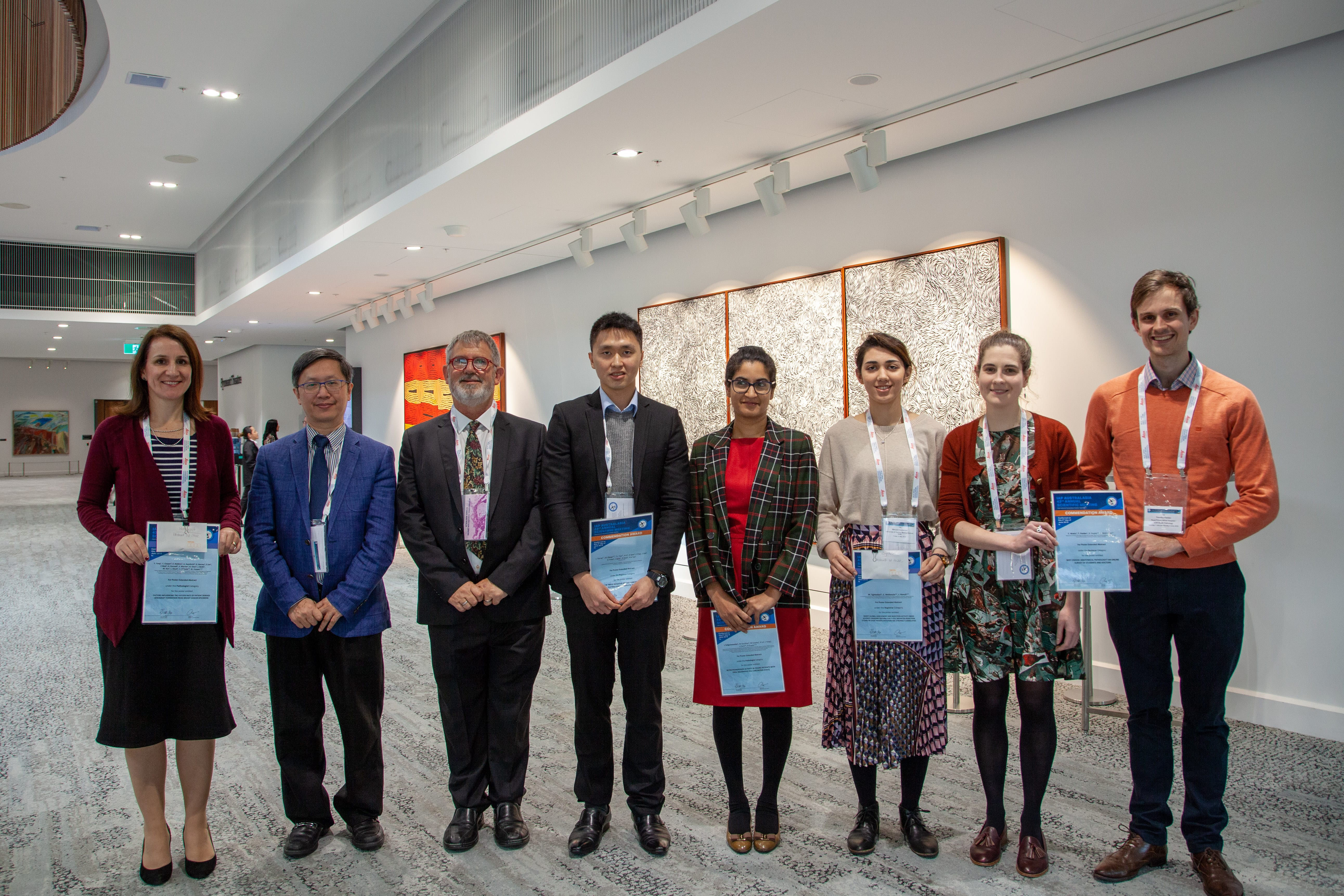 Abstract award winners with Peter Bethwaite and Alfred Lam