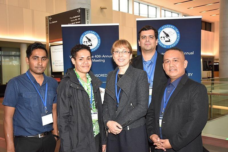 Sponsored pathologists - Praneel Kumar (Fiji), Avikali Mate (Fiji), Jane Dahlstrom, Zafar Ali (Pakistan), Rico P. Lasaca (Philipines)