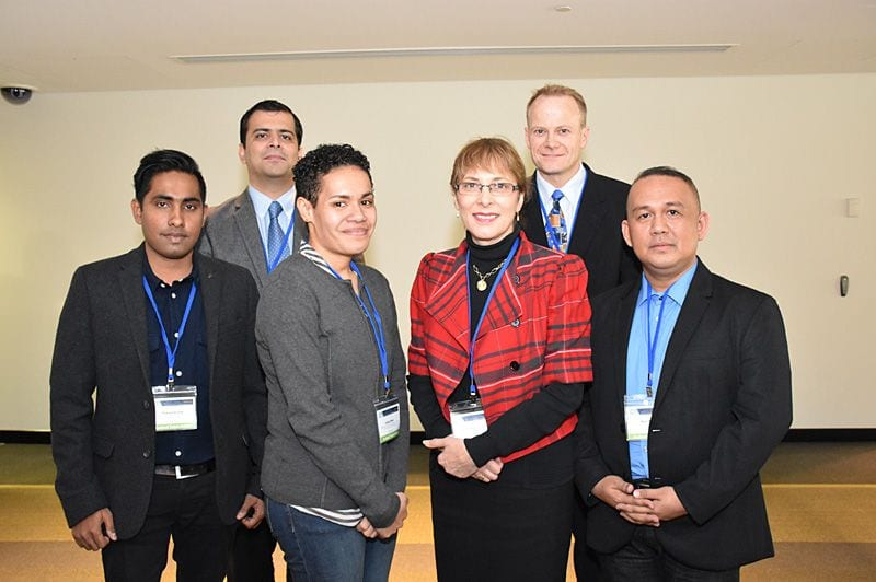 Sponsored pathologists with the President and Secretary Praneel Kumar (Fiji), Zafar Ali (Pakistan), Avikali Mate (Fiji), Jane Dahlstrom (Secretary), Richard Scolyer ( President), Rico P. Lasaca (Philipines)