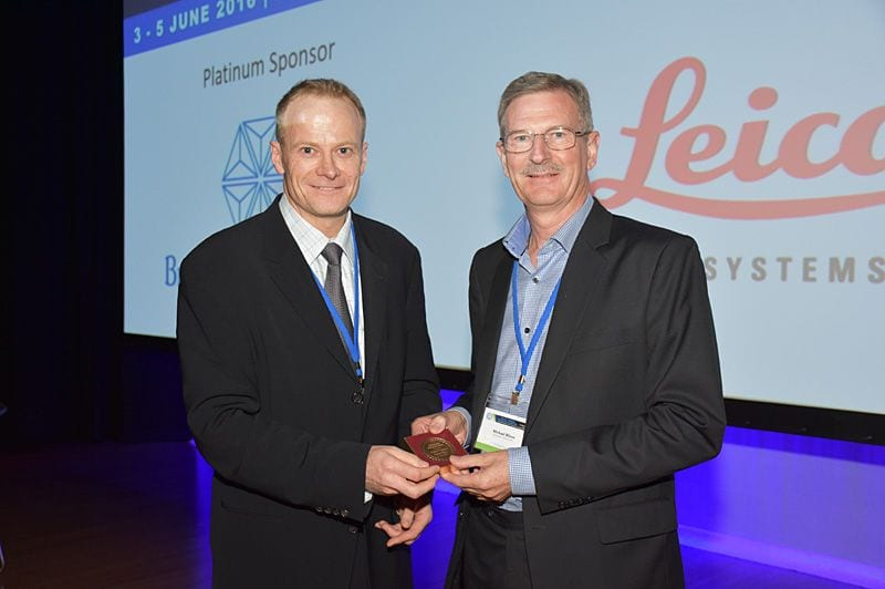 Michael Bilous Distinguished Pathologist IAP 2016 received from Richard Scolyer (President)