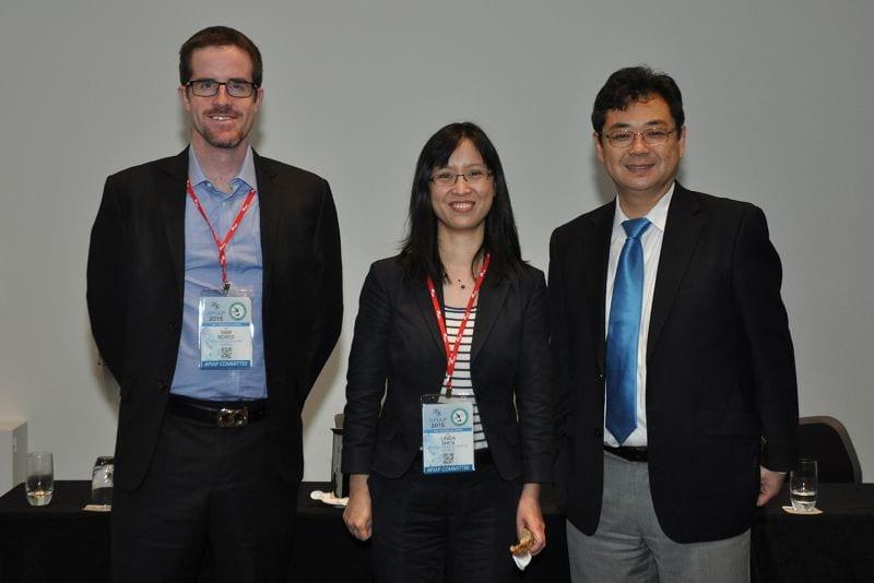 Sam Boros (Organiser of the conference), Linda Shen (Organiser of the conference), Jim Zhai (Pres Chinese American Assoc)