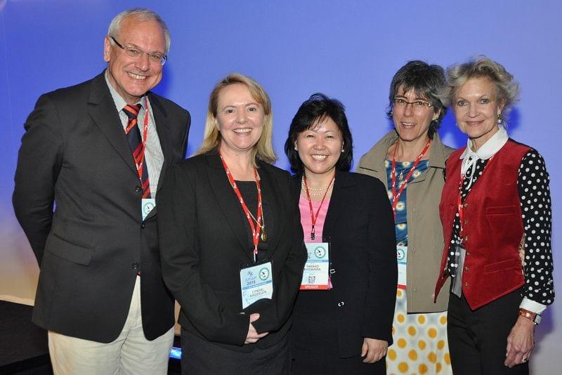 Gynaepathology: L-R: Dietmar Schmidt (Germany), Lyndal Anderson (Convenor, Australia), Takako Kiyokawa (USA), Esther Oliva (Invited Speaker, USA), Inny Busmanis (Singapore).