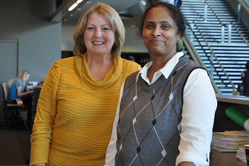Debbie Suann and Uma Subramanian (IAP Aust Div Secretariat 2014-)