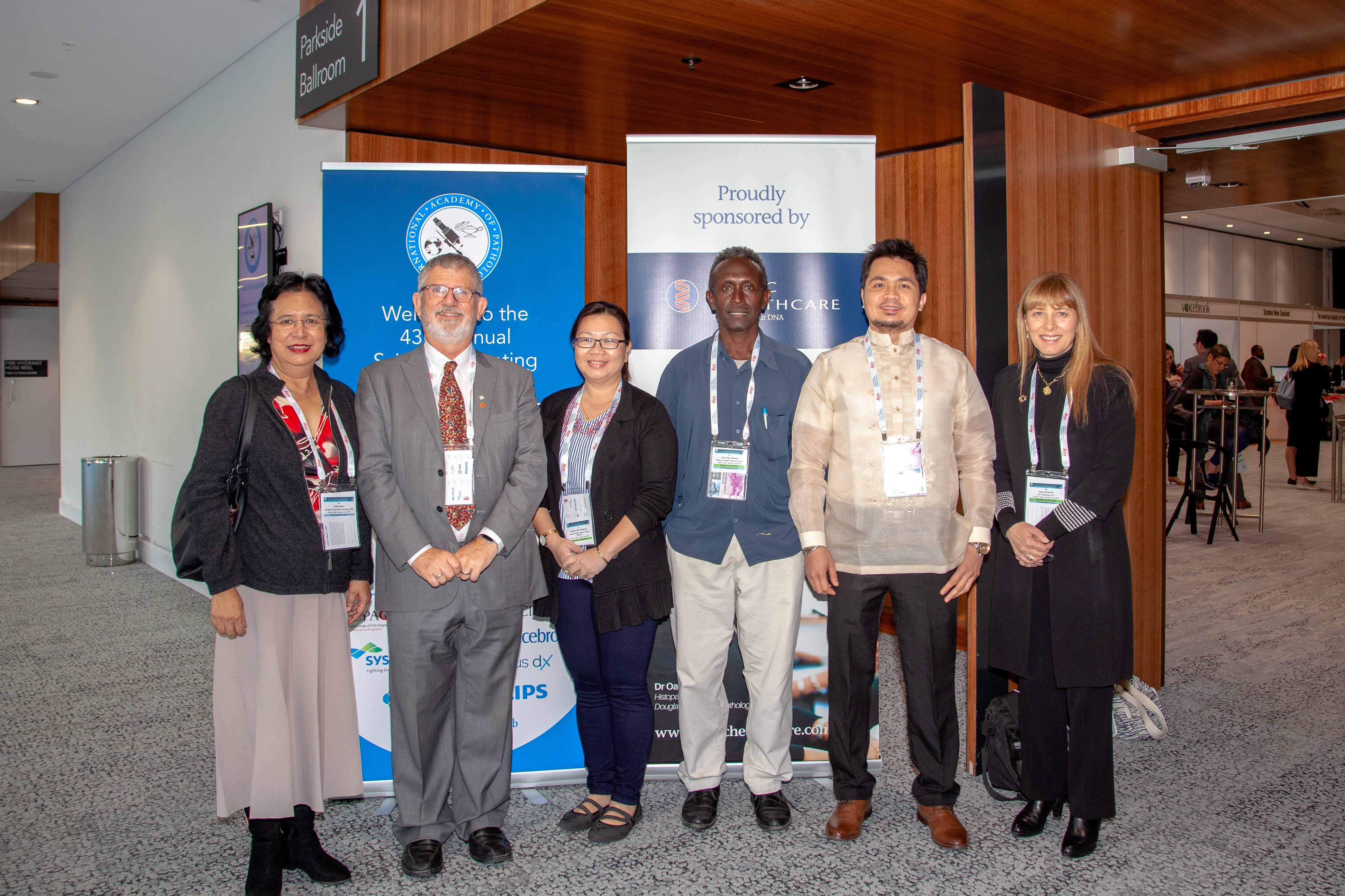 Esther Myint, Peter Bethwaite, with Sponsored Pathologist Angeline Madatang, Philip T Radin, Roy R Maraka and Jane Dahlstrom