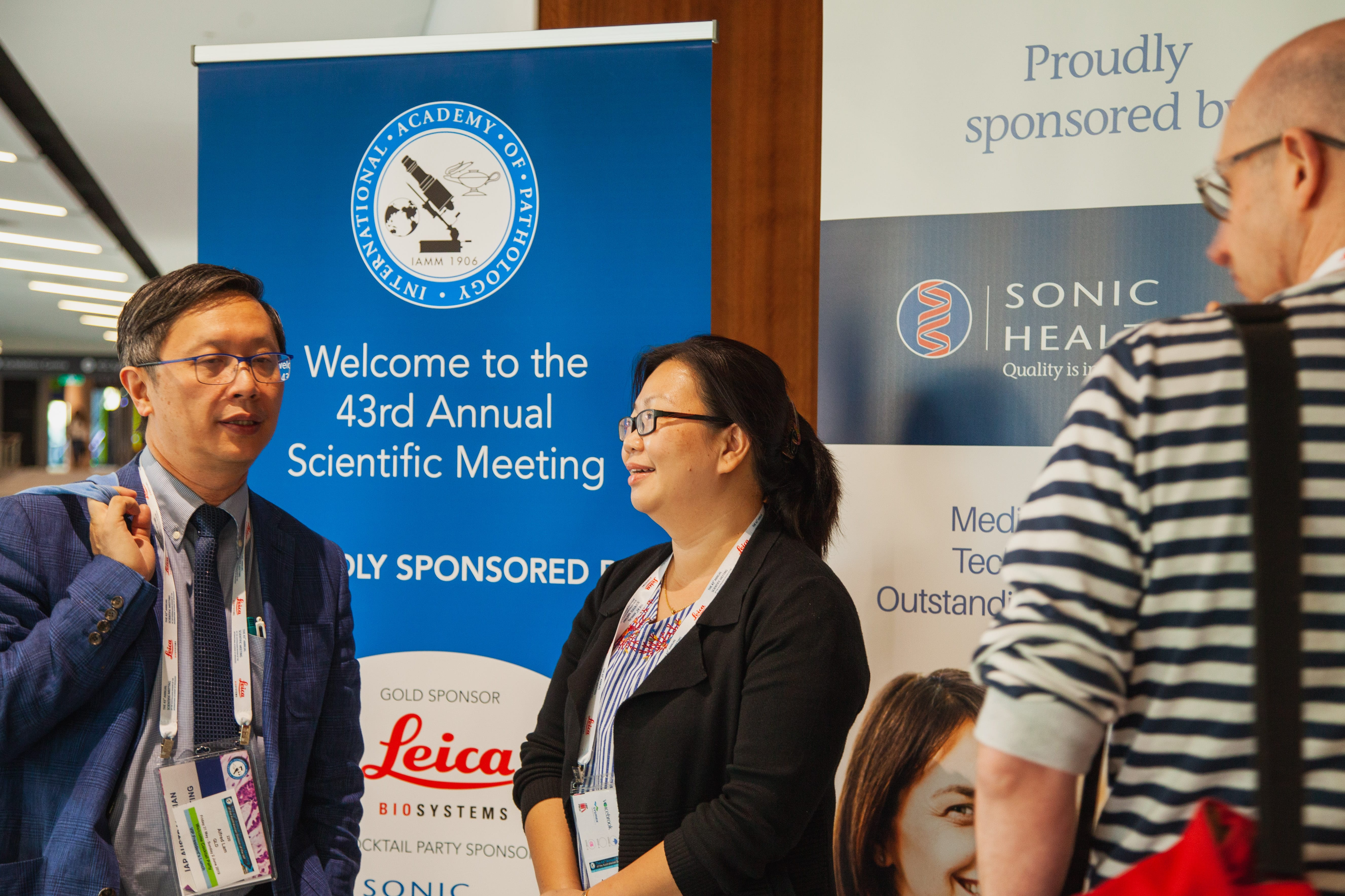 Alfred Lam with Sponsored Pathologist Angeline Madatang