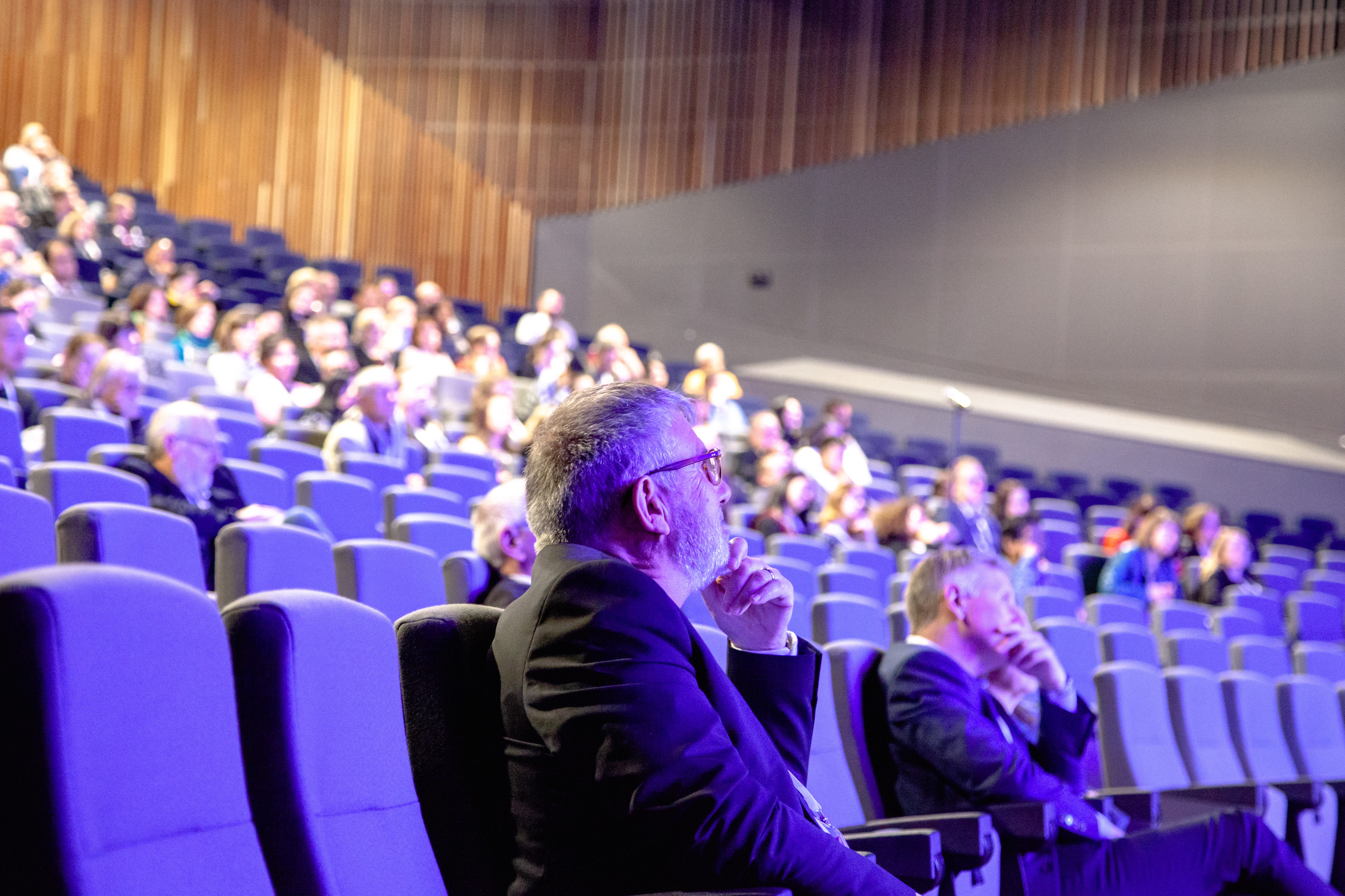 Attendees in the Pyrmont Theatre ICC